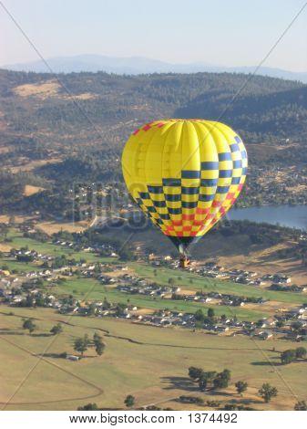 Hot Air Balloon Over Napa Valley