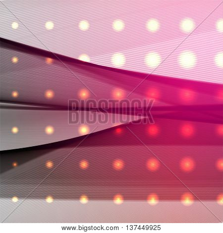Abstract Lines On Light Background. Vector Illustration. Technology Background With Stripes. Pink, P