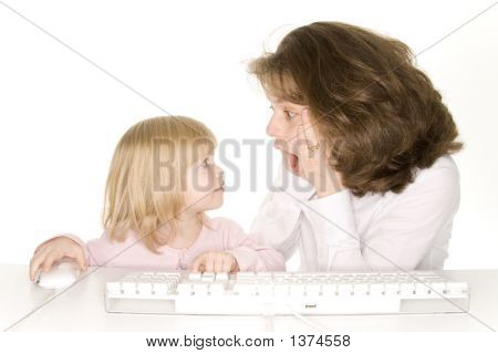 Mother Amazed At Daughters Computer Talent