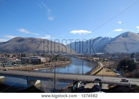 Higgins Bridge In Downtown Missoula, Montana