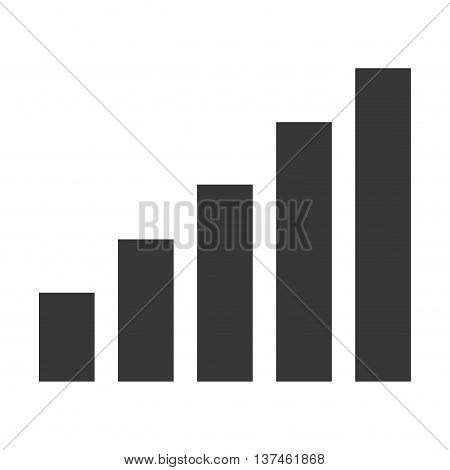 simple flat design bar graph icon vector illustration