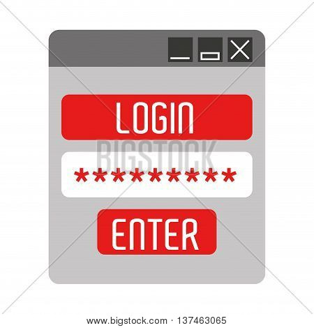 login template isolated icon design, vector illustration  graphic