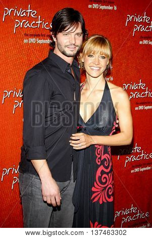 Jason Behr and KaDee Strickland at the Season One DVD Launch of 'Private Practice' held at the Roosevelt Hotel's Tropicana Bar in Hollywood, USA on September 2, 2008.