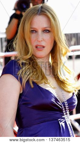 Gillian Anderson at the Los Angeles premiere of 'The X-Files: I Want To Believe' held at the Grauman's Chinese in Hollywood, USA on July 23, 2008.