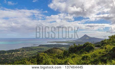 View On Tamarin Mauritius From Plaine Champagne