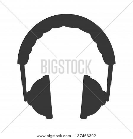 simple flat design padded headphones icon vector illustration