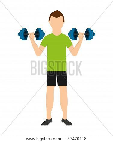 man lifting weights isolated icon design, vector illustration  graphic