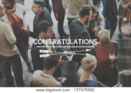 Congratulate Congratulations Greeting Victory Concept