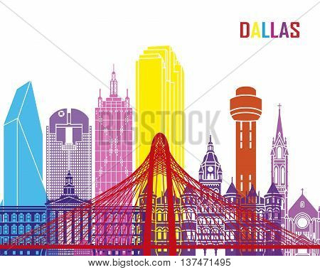 Dallas Skyline Pop
