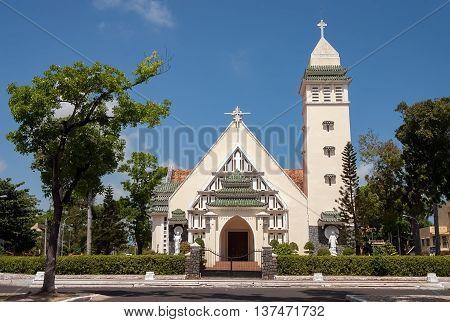 VUNG TAU, VIETNAM, March 14, 2016 the church religious center coastal city Vung Tau, Vietnam