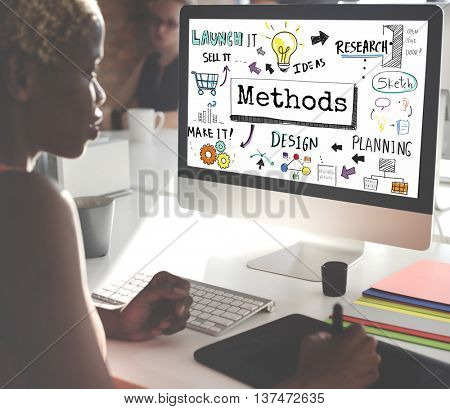 Method Strategy Business Workflow Progress Concept