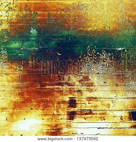 Abstract grunge weathered background of vintage texture. With different color patterns: yellow (beige); brown; green; blue; red (orange)