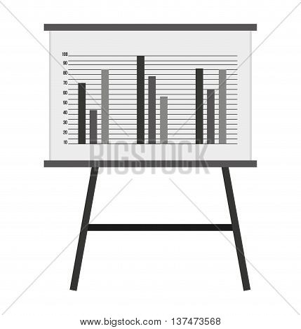 whiteboard with statistics isolated icon design, vector illustration  graphic