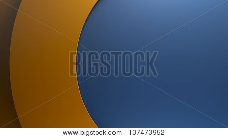 3d rendering, asbtract geometry background made of circle forms with shallow height difference