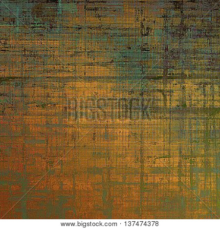Creative elegant design used as retro background for your art project. With grunge texture and different color patterns: yellow (beige); brown; green; blue; red (orange); black