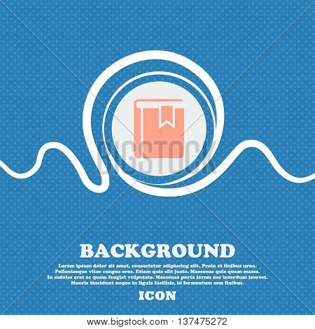 Book Bookmark Icon Sign. Blue And White Abstract Background Flecked With Space For Text And Your Des