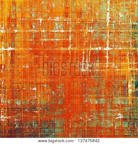 Abstract grunge weathered background of vintage texture. With different color patterns: yellow (beige); green; red (orange); gray; cyan; pink
