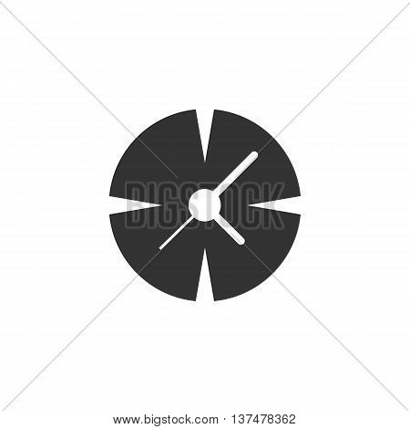Clock icon isolated on white background. Clock vector logo. Flat design style. Modern vector pictogram for web graphics. - stock vector
