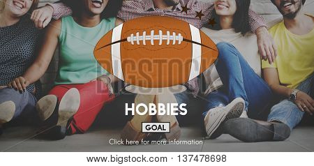 Hobbies Football Ball Rugby Game Concept