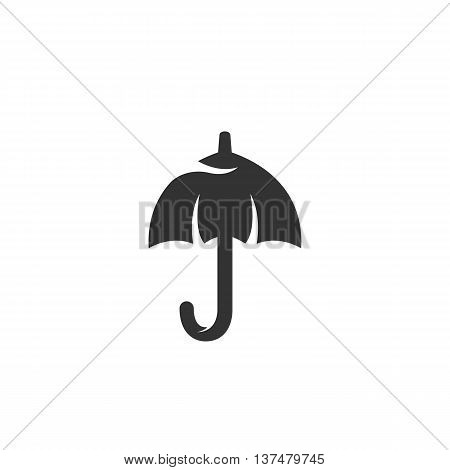 Umbrella icon isolated on white background. Umbrella vector logo. Flat design style. Modern vector pictogram for web graphics - stock vector