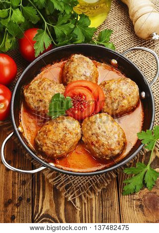 Meat Cutlets With Cabbage