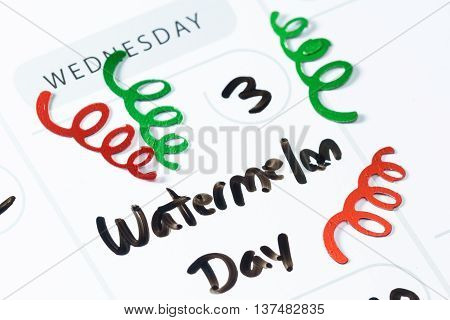 August 3, National Watermelon Day