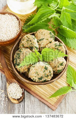 Cutlets With Nettles