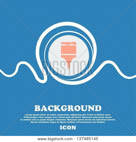 Paint Brush Sign Icon. Artist Symbol. Blue And White Abstract Background Flecked With Space For Text
