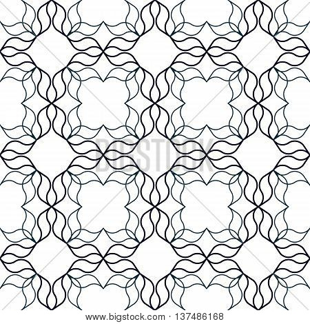 Abstract geometric background with wavy organic shapes. Seamless repeat pattern.