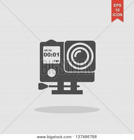 Action Camera Outline Monochrome Icon. Extreme Cam
