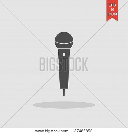 Microphone Icon. Flat