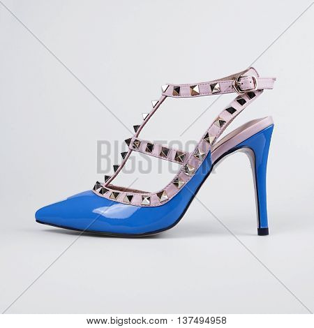 Blue Female Shoes