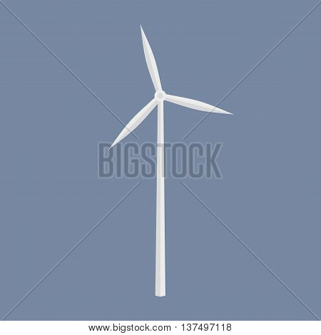 Wind Energy Generator Icon. Wind Farm Symbol.