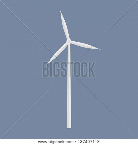 Wind Energy Generator Icon. Wind Farm Symbol.