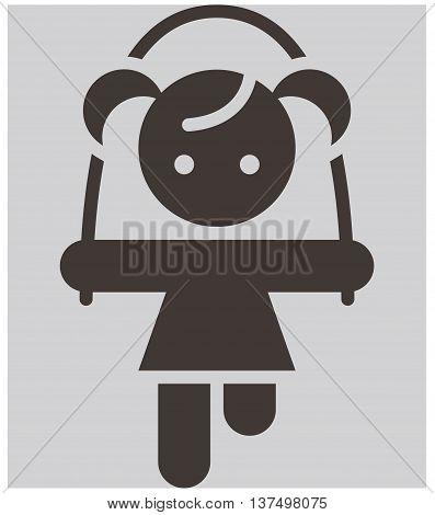 Kids activities icon - the vector illustration icon