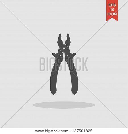 Pliers Icon. Vector Concept Illustration For Design