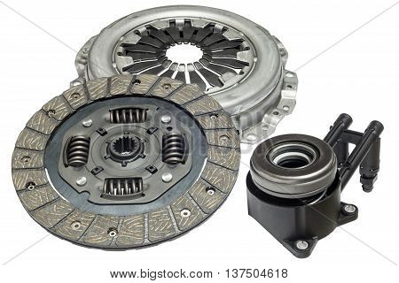 clutch kit with hydraulic bearing car on a white background