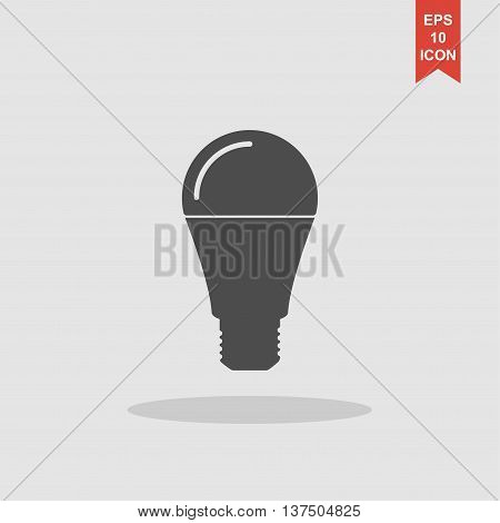 Led Lamp Icon, Vector Illustration