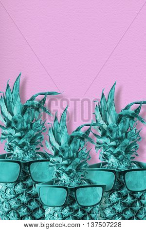 Pink And Blue Summer Pineapple Concept Art