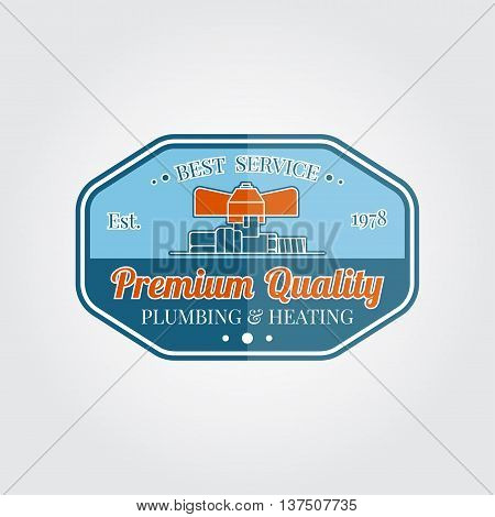 Vintage Plumbing Service Badge, Banner Or Logo Emblem.elements On The Theme Of The Plumbing Service