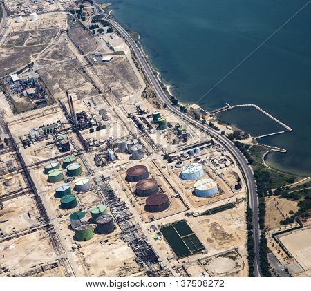 Aerial View To Oil Depot Of Mariagne In Marseilles