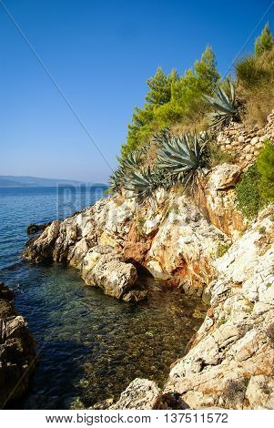 Beautiful seascape at Bol, Brac in  Groatia