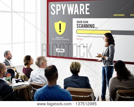 Spyware Comuter Hacking Concept