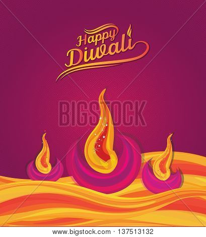 Diwali Paper Design Template - Indian Traditional Diwali Design Template - Creative Diwali Design Template