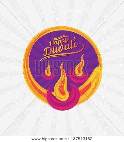Diwali Paper Design Template - Indian Traditional Diwali Design Template - Creative Diwali Design Template