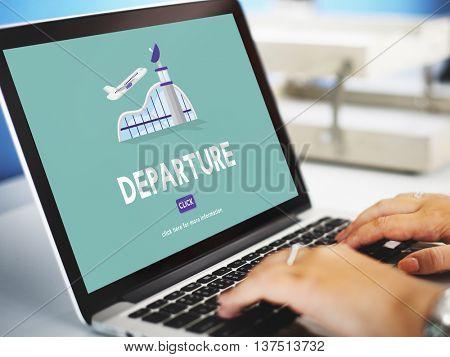 Departure Business Trip Flights Travel Concept
