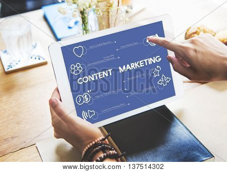 Company Meeting Affiliate Marketing Concept