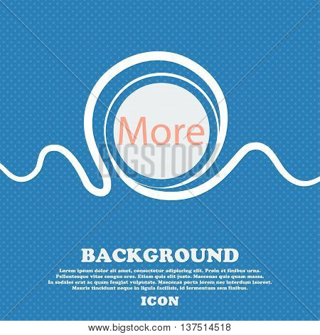 More Sign Icon. Details Symbol. Website Navigation. Blue And White Abstract Background Flecked With