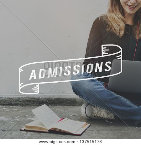Admissions Entrance Examination University College Concept