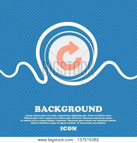 Upgrade, Arrow  Sign Icon. Blue And White Abstract Background Flecked With Space For Text And Your D